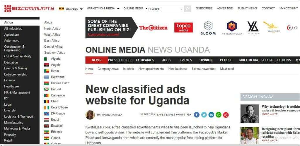 buy and sell online in Ug