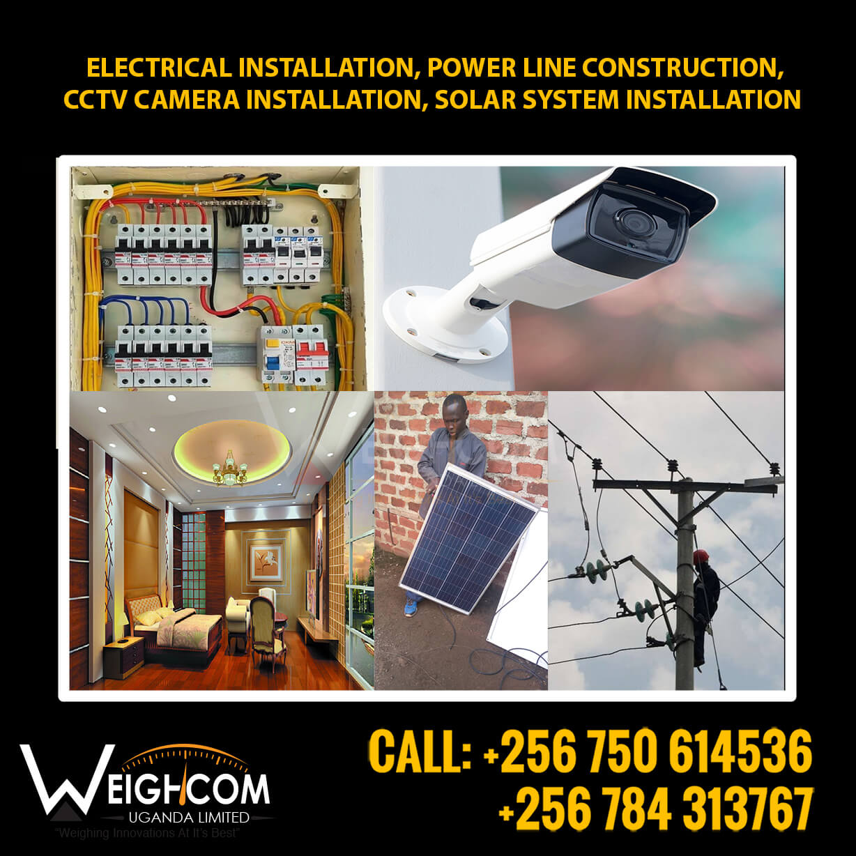 Electrical installation company in Uganda.