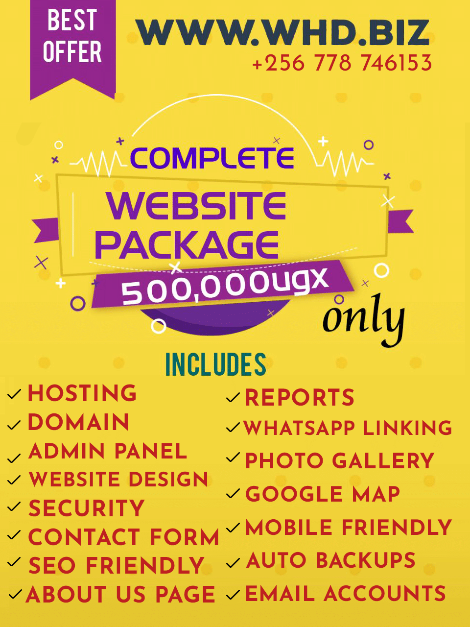 Affordable Complete Website Package